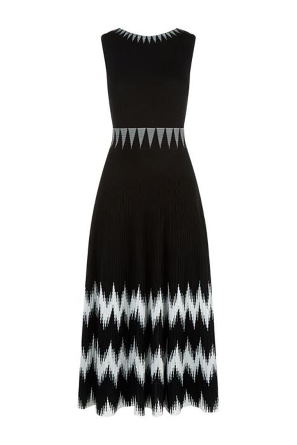 Maje Knitted Geometric Dress