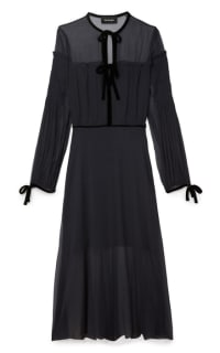 The Kooples Silk dress with velvet ribbons Preview Images