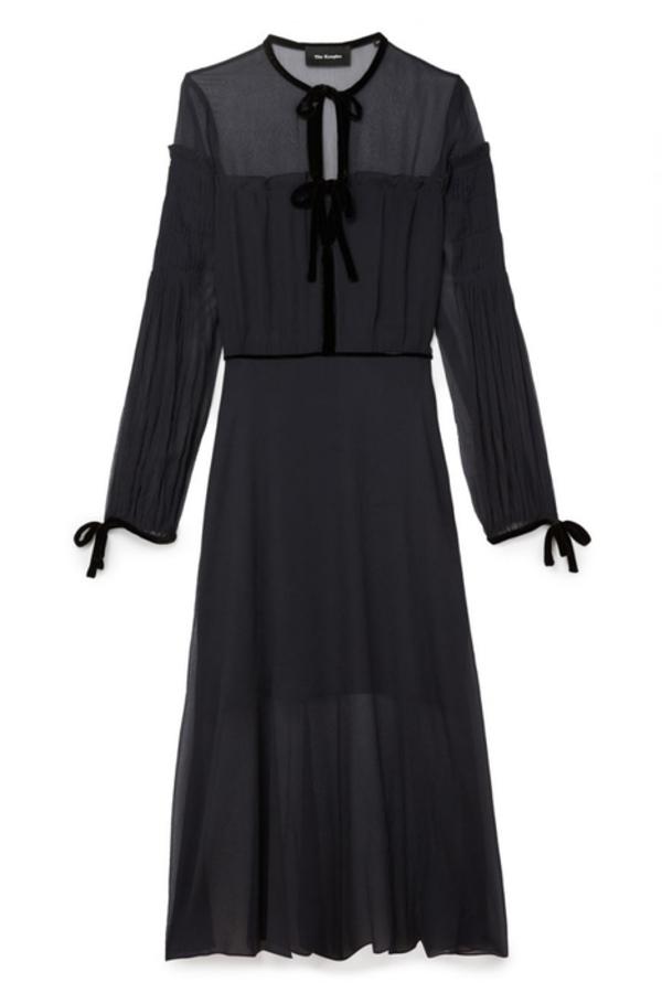 The Kooples Silk dress with velvet ribbons