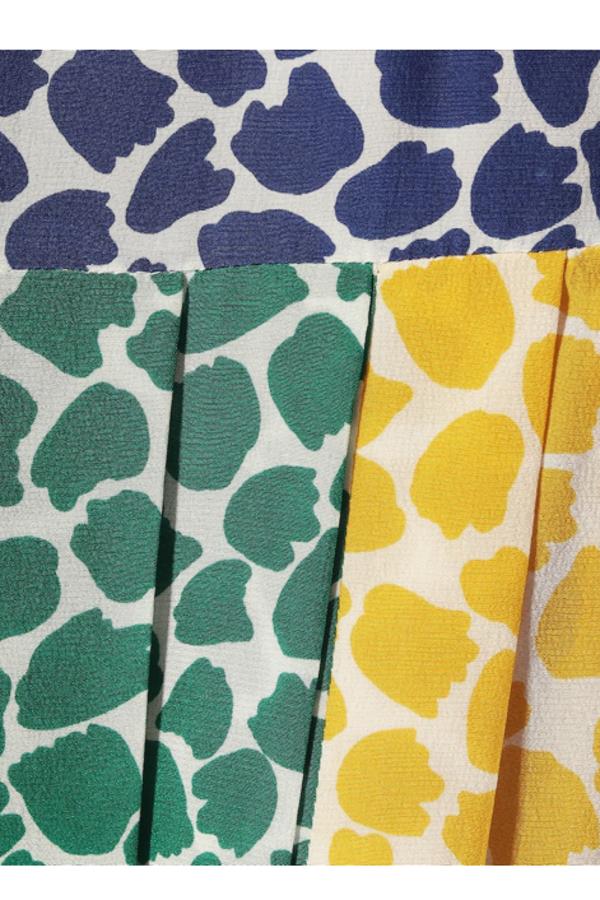 RIXO London Tina silk printed midi skirt  3