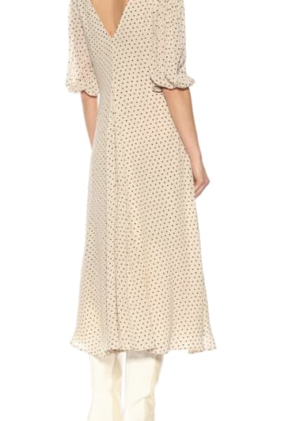 GANNI Crepe Polka Dot Dress 3