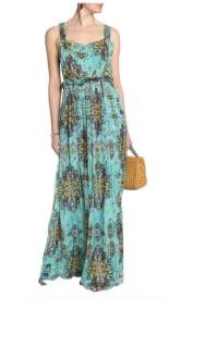 Matthew Williamson Open-back embellished printed silk-chiffon maxi dress 2 Preview Images