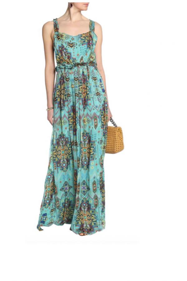Matthew Williamson Open-back embellished printed silk-chiffon maxi dress 2