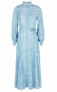RIXO London Maddison printed satin shirt dress Preview Images