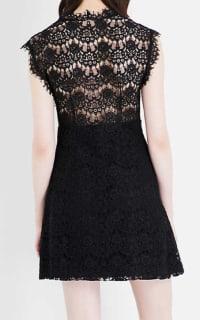 Claudie Pierlot Reset V-neck lace dress 3 Preview Images