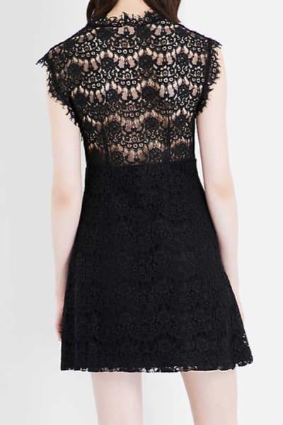 Claudie Pierlot Reset V-neck lace dress 3