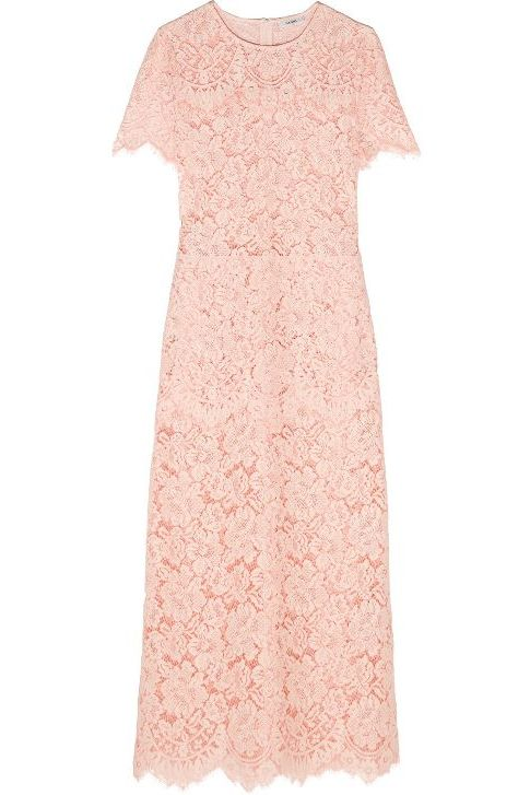 Ganni Duval corded lace midi dress 3