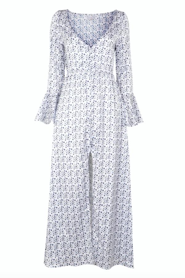 Cinta the label Cosmic Love Print Maxi Dress