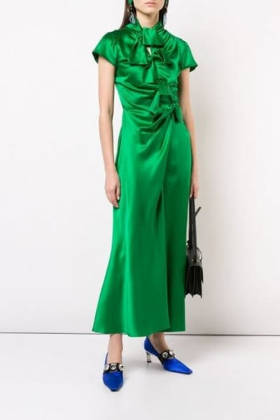 Saloni Green Kelly Dress 4