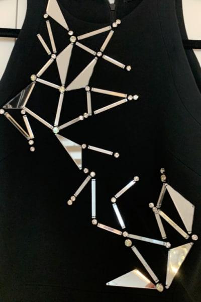 David Koma Mirror Embellished Dress 2