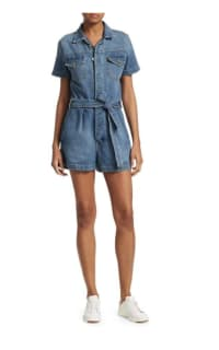 FRAME Pleat-Front Denim Coverall Preview Images