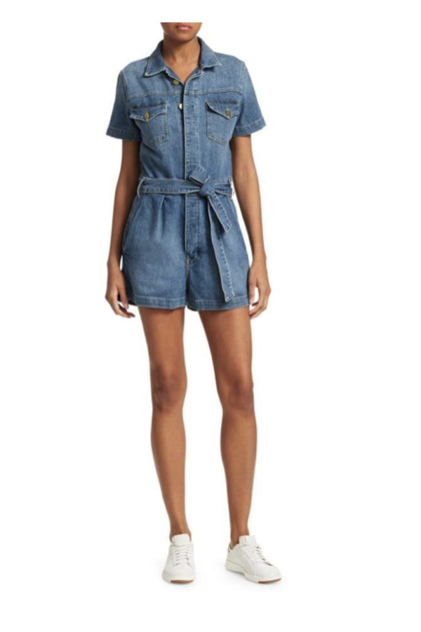FRAME Pleat-Front Denim Coverall