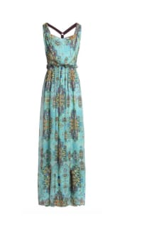 Matthew Williamson Open-back embellished printed silk-chiffon maxi dress Preview Images