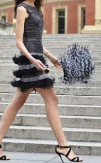 Matthew Williamson Lattice Feather Lace Embroidered Dress  2 Preview Images