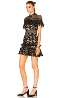 Self Portrait Yoke Frill Star Mini Dress 4 Preview Images