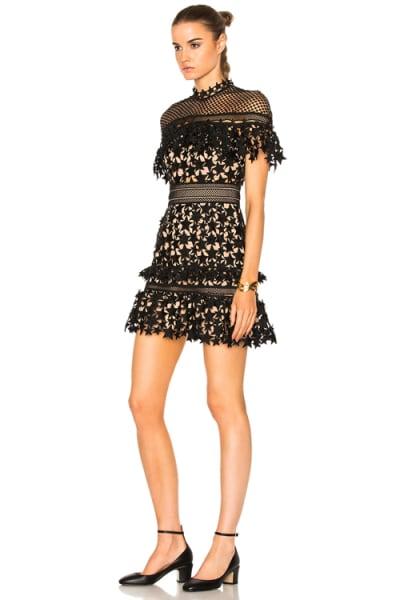Self Portrait Yoke Frill Star Mini Dress 4