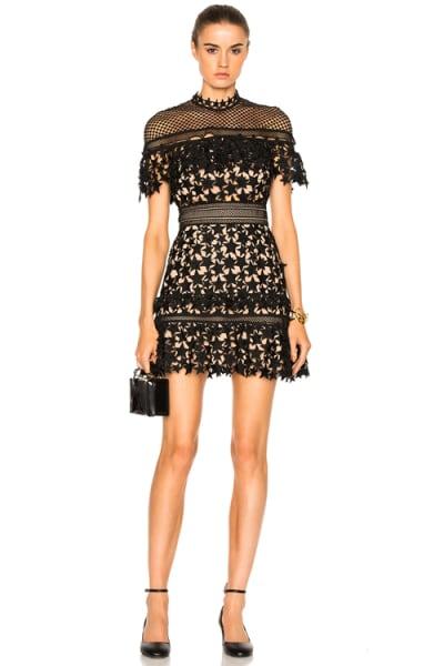Self Portrait Yoke Frill Star Mini Dress 3