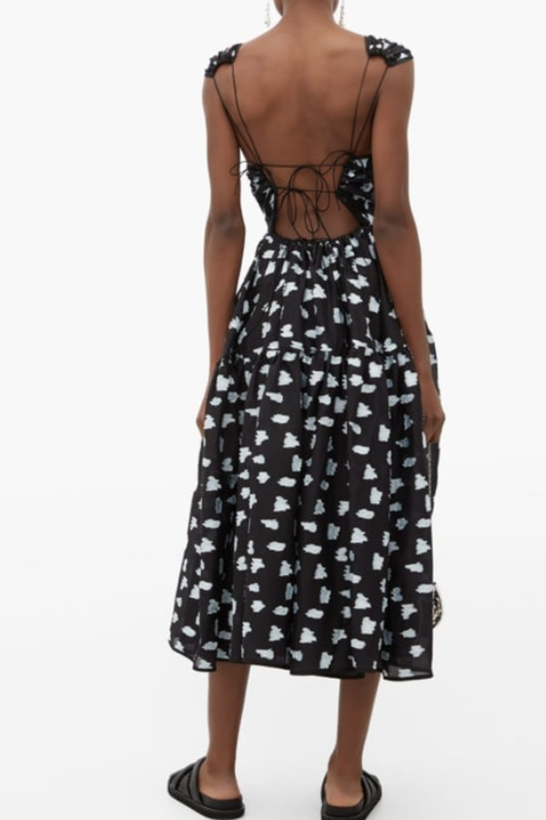 Image 3 of Cecilie Bahnsen ruth coupe midi dress