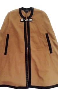 Ralph Lauren Beige Cashmere & Leather Cape 3 Preview Images