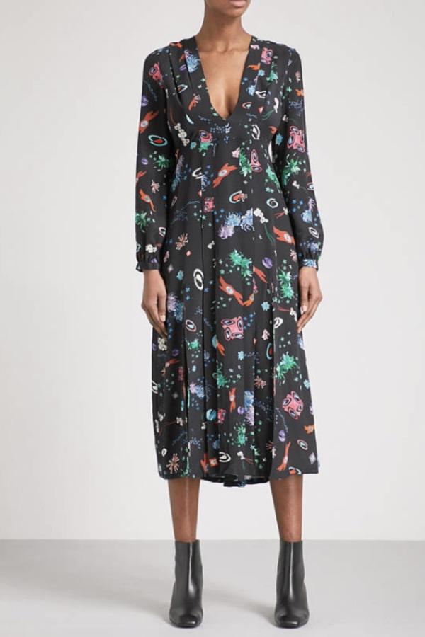 Image 2 of Rixo camellia silk midi dress