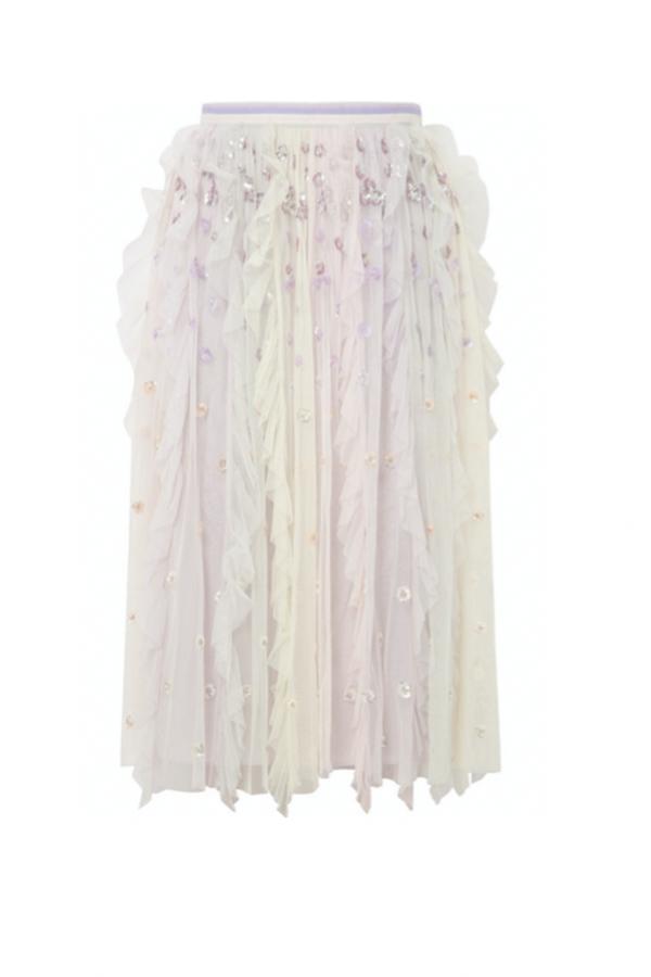 Needle & Thread Rainbow midi skirt