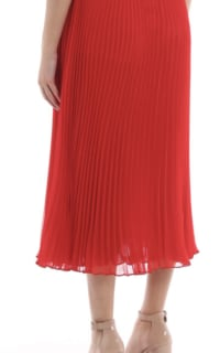 Ralph Lauren Pleated Georgette Midi Skirt 3 Preview Images