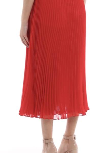 Ralph Lauren Pleated Georgette Midi Skirt 3
