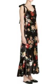 The Attico Velvet Midi Floral Dress 2 Preview Images