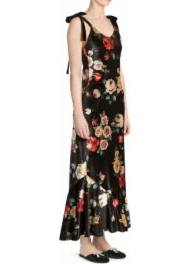 The Attico Velvet Midi Floral Dress 2