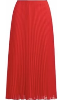 Ralph Lauren Pleated Georgette Midi Skirt Preview Images