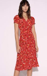 Realisation Par Red floral midi dress 3 Preview Images