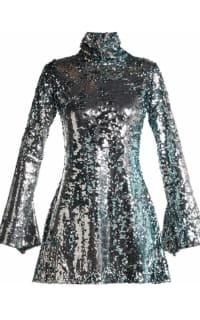 Halpern Metallic sequined mini dress 4 Preview Images