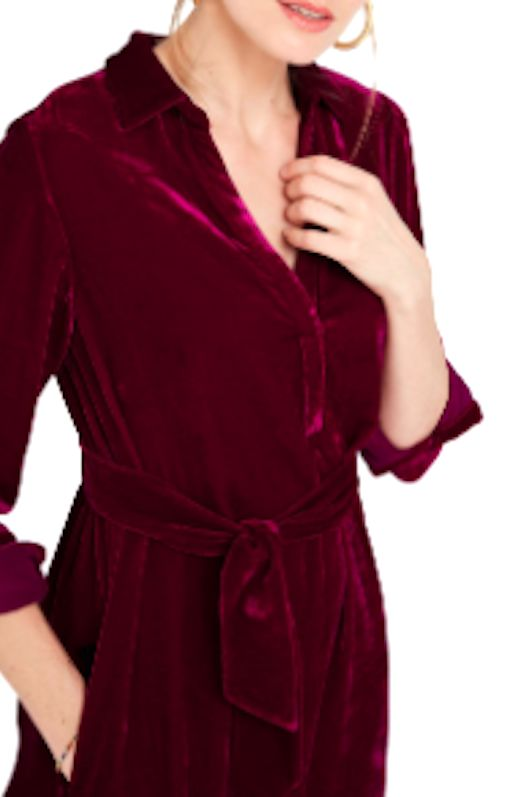 NRBY Chrissie Velvet Shirt Dress 4 Preview Images