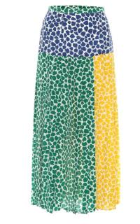 RIXO London Tina silk printed midi skirt  Preview Images
