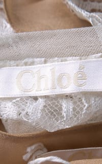 Chloé White Contrast Lined Long Sleeve Floral Lace Top Preview Images