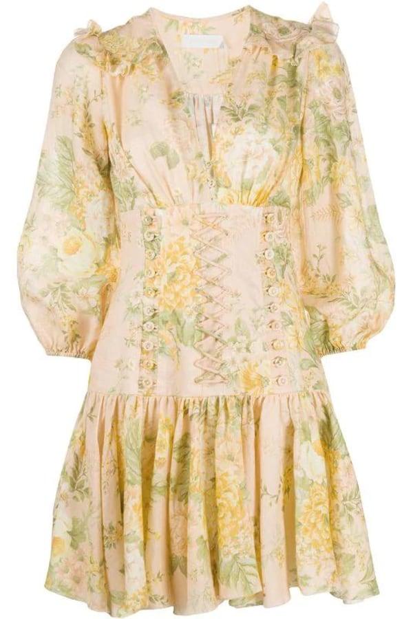 Image 1 of Zimmermann amelie corset floral dress