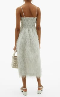 Ganni Feather silver midi dress 4 Preview Images
