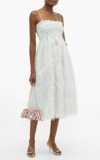 Ganni Feather silver midi dress 5 Preview Images