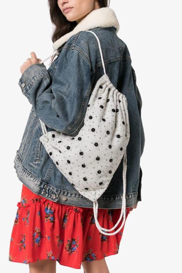 Ganni Wintour sequin embellished bag 5
