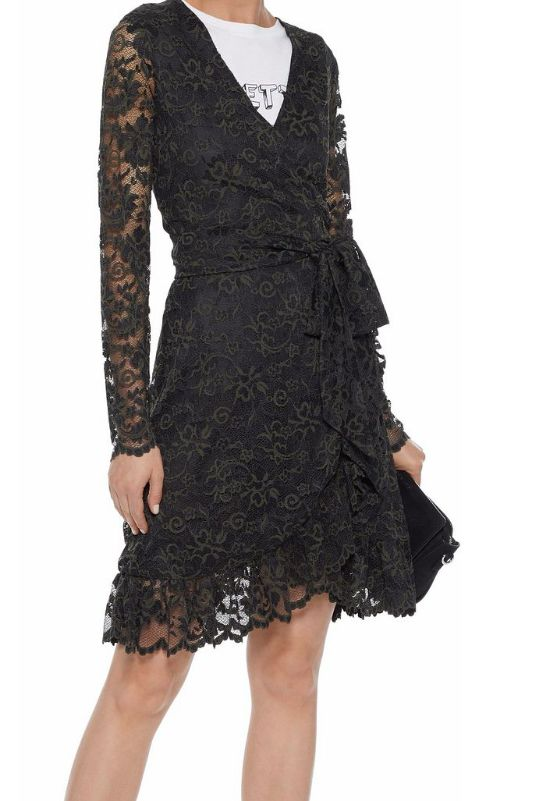Ganni Flynn lace wrap dress 2 Preview Images