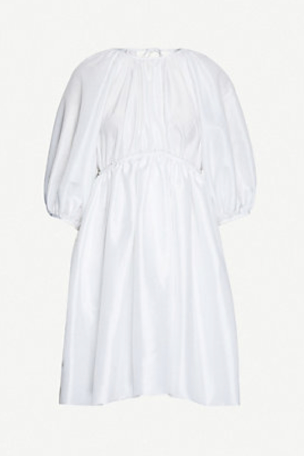 Cecilie Bahnsen Puffed-sleeve shell dress