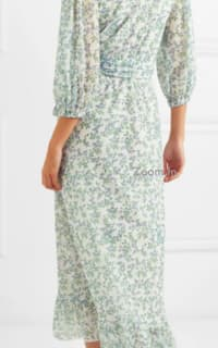 Ganni Tilden floral-print mesh wrap  2 Preview Images
