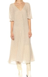 GANNI Crepe Polka Dot Dress 2 Preview Images
