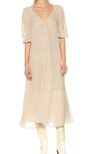GANNI Crepe Polka Dot Dress 2