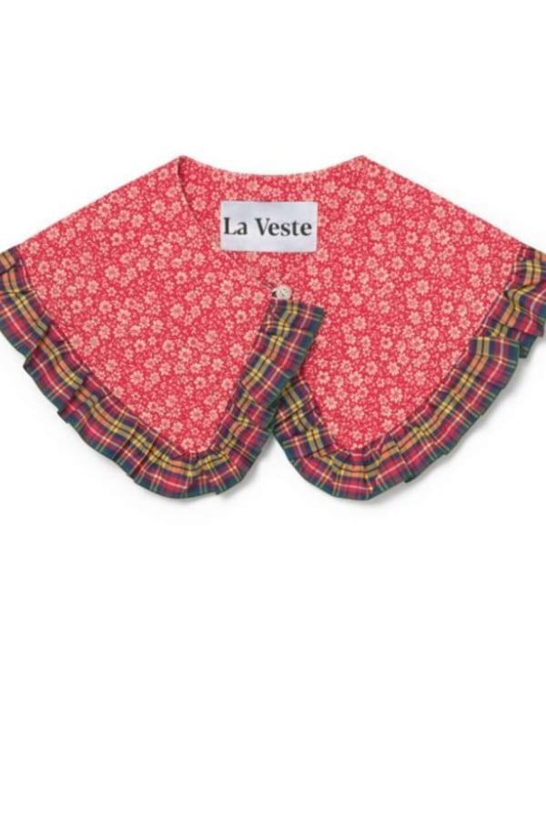 La Veste Tartan Bloom Collar  2 Preview Images