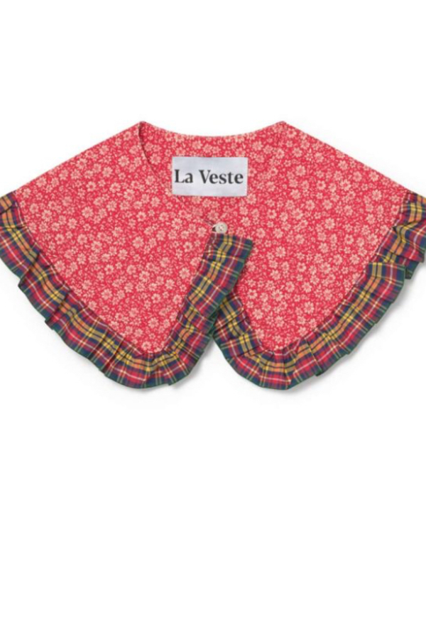 La Veste Tartan Bloom Collar  3
