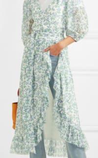 Ganni Tilden floral-print mesh wrap  3 Preview Images