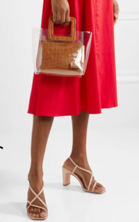 Staud Shirley mini PVC and leather textured tote bag 2 Preview Images