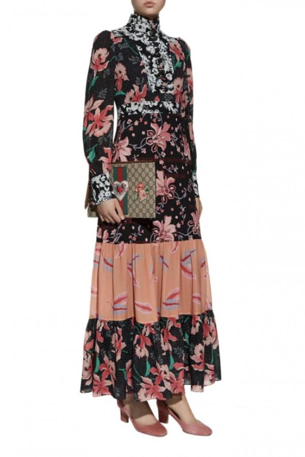Gucci Printed long Sleeve dress 2
