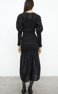 Toteme Black Coripe Dress 4 Preview Images
